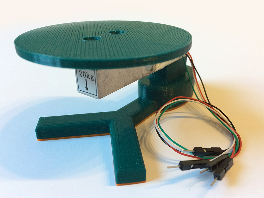 Load cell with 3d printed frame